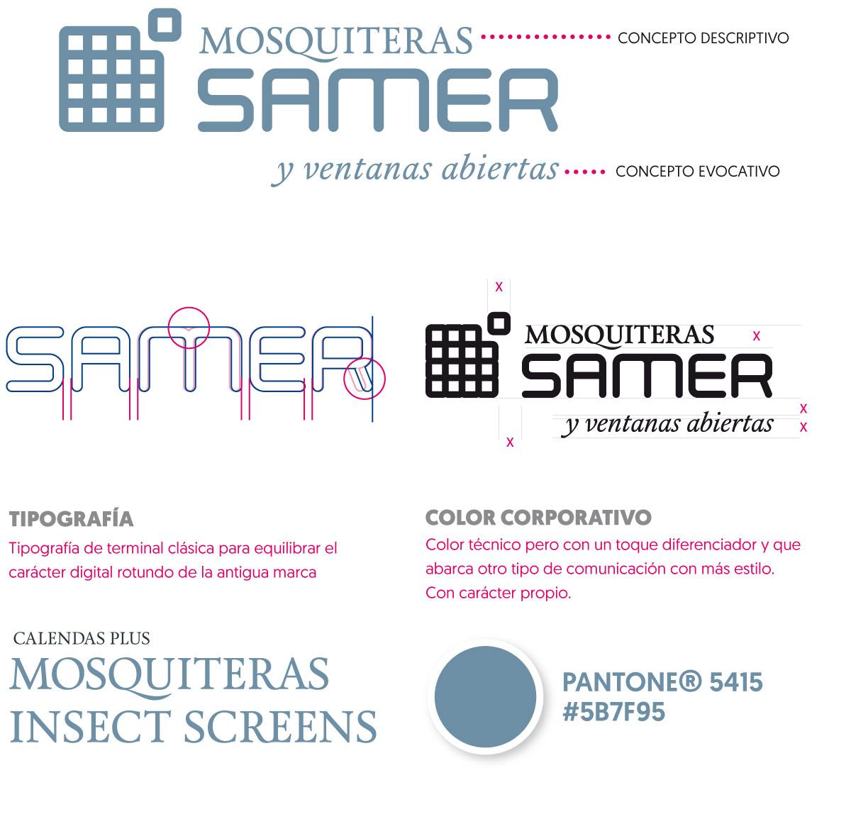 Diseño de marca y rediseño de marca SAMER Mosquiteras